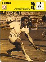 1978 Sportscaster Card Tennis Jaroslav Drobny # 25-15 NRMINT.