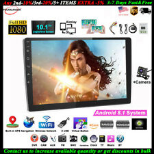 10''2 Din Android GPS Car Radio+Camera FM BT Airplay iOS Mirror Link Touch Wifi