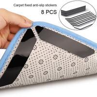 8pc Reusable Non Slip Rug Sticker Carpet Pad Grip All Floor Types Anti Skid Tape