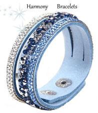 Baby Blue Swarovski Elements Single Glamour Bracelet by Harmony Bracelets