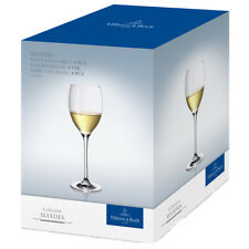 Villeroy & Boch Collection Maxima White Wine Goblets Glasses (4 Pack)