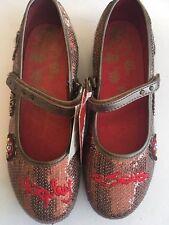 Schöne neue  Schuhe von Replay & Sons mit Pailletten in Bronze. Größe 37