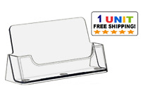New CLEAR Acrylic Desktop Business Card Holder Display
