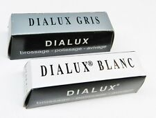 POLISHING COMPOUND DIALUX JEWELERS ROUGE WHITE & GRAY CUT & POLISH METAL FINISH