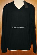Men's Under Armour UAS Cashmere Silk Black V Neck Sweater #1251990 Size XL