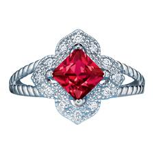 Simulated Ruby Ring, Elegant Sterling Silver.925, Sz 6 New n Box Free Shipping