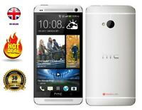 New HTC One M7 - 32GB - Silver (Unlocked) Smartphone 4G NFC Quadcore Android UK