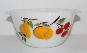Vintage Anchor Hocking FIRE KING Gay Fad 14 Cinderella Painted Fruit Dish Bowl