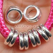 20PCS Tibetan Silver Metal Loose Tube Spacer Beads Jewelry Making DIY 10mm A3545