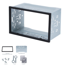 Double 2Din Radio Stereo Install Bezel Panel Mount Dash Kit Fit For Car SUV