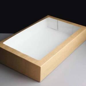 Large Kraft Traybake / Buffet / Graze/  Cake Boxes 322 x 200 x 60  Fast Despatch