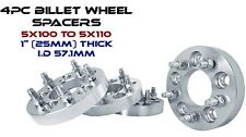 4 Pc 5x100 mm To 5x110 mm Wheel Spacers | Changes Bolt Pattern | Adapters 12x1.5