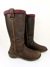 UGG Swell 5139 Pull On Brown Leather Sheepskin Shearling Winter Boots Women's 8