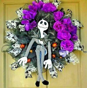 Handmade Halloween NIGHTMARE BEFORE CHRISTMAS Wreath & Door Decor