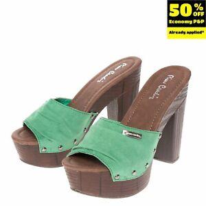 RRP€125 PIERRE CARDIN Clog Sandals EU 36 UK 3 US 6 Suede Effect Studded Platform