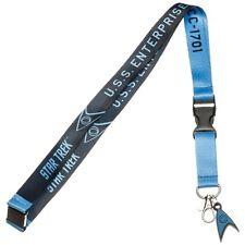 Star Trek Science Blue Member Lanyard ID Badge Holder with Charm