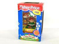 Vintage 1999 Fisher Price Little People Christmas Eve Elf Girl Santa Workshop