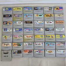 "WHOLESALE SUPER FAMICOM Lot 40""NTSC-J"" Nintendo SFC Game Cartridge 6092sfc40"