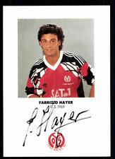 Fabrizio Hayer AUTOGRAFO scheda FSV Mainz 05 ORIGINALE FIRMATO + a 95143