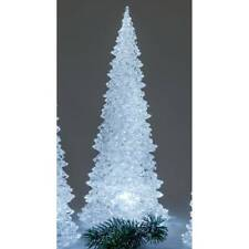 LED Deko Baum Pyramide H. 32cm klar weiß Acryl mit Timer Formano W21