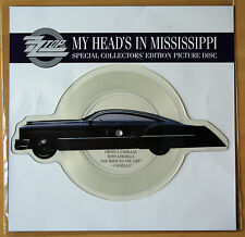 ZZ TOP My Head's In Mississippi Shaped VINYL Picture Disc + backing card heads