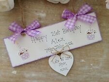 Birthday Gifts  Personalised Sign 1st 16th 18th 21st 30th 40th Any Age Made