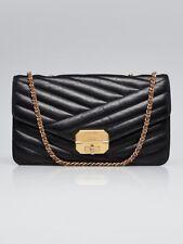 Chanel Black Chevron Quilted Leather Gabrielle Medium Flap Bag