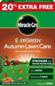 Autumn Lawn Care Weed & Moss Killer Grass Fertiliser Winter Protection 120m2 4kg