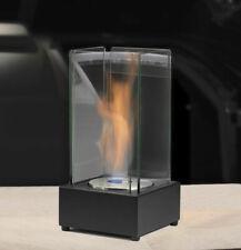 Denver bio-éthanol cheminée en acier inoxydable noir Table Cheminée Luxe Cheminé...