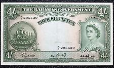 4 Shillings Bahamas ND (1953) ~ P13c GVF+ ~ British Commonwealth