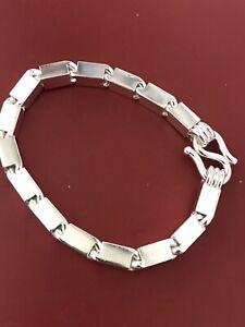 999 FINE silver  Handmade Baht Box Bracelet Approx 43.00 Grams 8 inch
