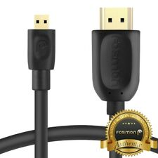 Fosmon 6 10 15 FT for GoPro Hero 6 Black 5 Session Micro HDMI Cable Adapter Cord