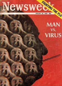 1969 Newsweek January 20-Fighting the virus,  Shooting the UFO; Post dies