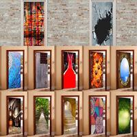 Waterproof Self Adhesive Door Wall Sticker Multi- Pattern Murals Home Decor