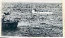 1969 US Coast Guard Divers Research Sub Ben Franklin J Piccard Press Photo