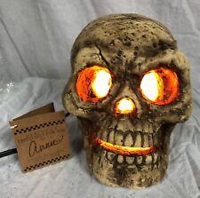 "Primitives By Kathy Halloween Resin 5 1/4""Skull Light-C7 Light Switch Cord~19725"