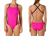 Speedo Swimsuit Turnz Vee 2 Color Block Women's 1-PC - Speedo Endurance Lite, 30