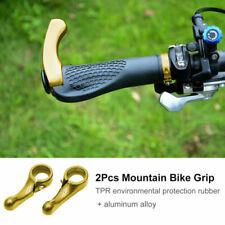 Pair Mountain Bike Handle Bar Grips Double Lock On MTB BMX Bicycle + Ends UK