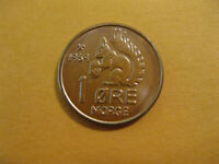 1969 Norway SQUIRLL coin  1 Ore uncirculated beauty  classic coin !!