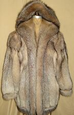 Designer GIVENCHY Crystal Fox Fur Jacket With Hood Size 8-10 FREE SHIPPING