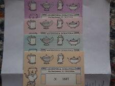 serie buoni d'acquisto argenteria Bologna 400,300,200,100 lire 1977