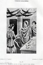 DENTI DI CORNO INDIANO DI EGLE. DENTISTA.Medicina.Dentiste.Dentist.Zahnarzt.1929