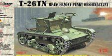 T-26 TN - WW II SOVIET OBSERVATION & COMMAND TANK 1/72 MIRAGE RARE!