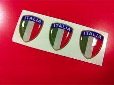 3 Adesivi Resinati Sticker 3D Scudetto Stemma ITALIA Tricolore Bandiera 2 cm