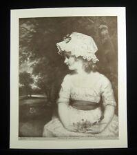Perry Pictures Vintage 1930s Art Print 10 x 12 Reynolds Portrait of Miss Gwatkin