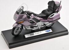 BLITZ VERSAND BMW K1200LT / K 1200 LT violett Welly Motorrad Modell 1:18 NEU OVP