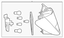 Genuine Mercedes-Benz Tail Lamp Assembly 117-906-01-01