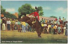 "Louie Cravey on ""raggin Willie"" Cowboy Rodeo Western Postcard"