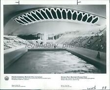 1976 Olympic Swimming Pool in Montreal Canada Original News Service Photo