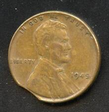 UNITED STATES LINCOLN PENNY 1945 CLIPPED PLANCHET AS SHOWN